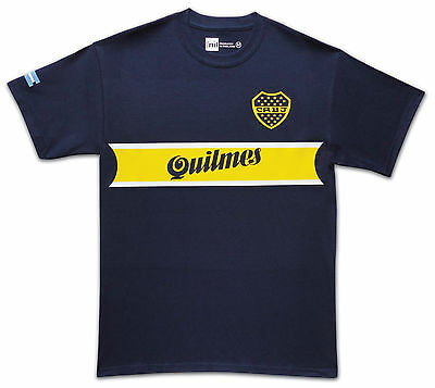 Boca Juniors 1997 Quilmes No.10 Riquelme retro T-shirt size Medium