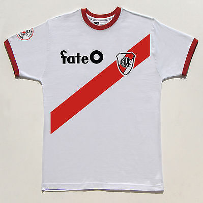 River Plate 1986 Fate No.9 Francescoli retro Ringer T-shirt size Medium