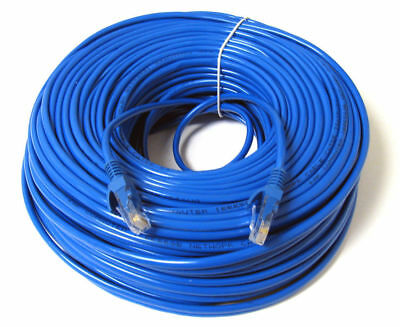 100 ft feet CAT6 RJ45 Ethernet Network Lan patch Cable CAT6 jumper 100ft Blue