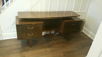 Vintage Style Mid Century G-Plan Fresco Type Desk Dressing Table Sideboard