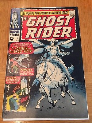1967 THE GHOST RIDER 1 + 2 SERIES 1ST PHANTOM RIDER DICK AYERS - 2 BOOKS Total
