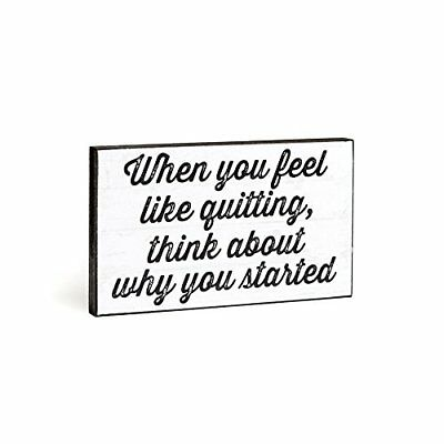 Chickidee Homeware when you feel like Quitting Plaque, bianco (R5G)