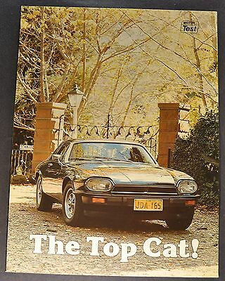 1977-1978 Jaguar XJ-S Sales Brochure Folder Excellent Original 77-78