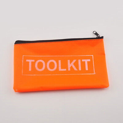 Orange Oxford Cloth Tools Set Bag Zipper Storage Pouch Waterproof Hot Sale