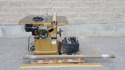 "Powermatic model 66 table saw Professional tilting arbor 5HP woodworking 10"" saw"
