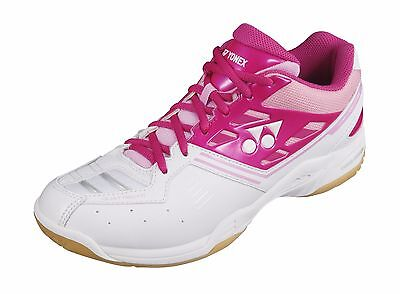 YONEX SHB F1 NLX Ladies Bright Pink Badminton Shoes - Size Women's US 10.5