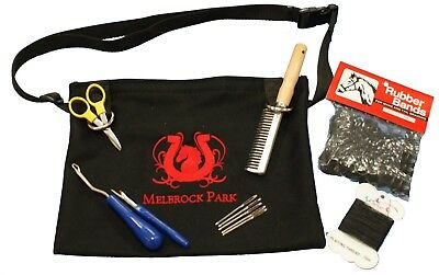 Horse Grooming/Plaiting Bag/Pouch For Professional Show Horse Plaits ~8 Piece