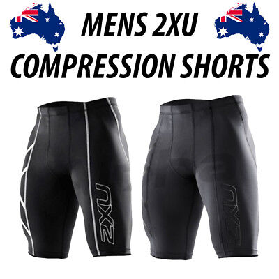 Men's 2XU Compression Skins Shorts Tights - Silver OR Black (Sizes M/L) **NEW**
