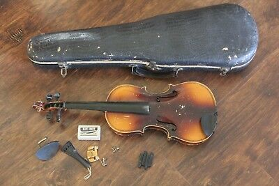 Vintage Copy Of A. Stradivarius Czechoslovakia Viola or Violin Free Shipping