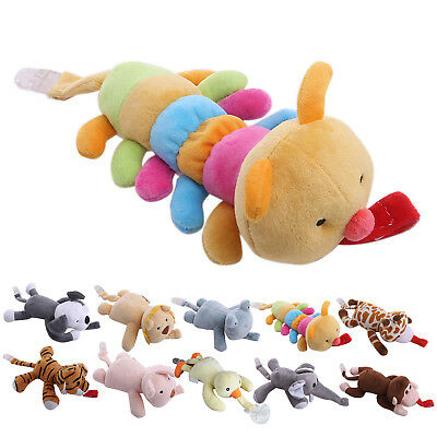 Baby Boy Girl Dummy Pacifier Chain Clip Plush Animal Toys Nipples Holders GT