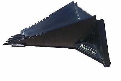 Stump Bucket powder coated- skid steer quick attach FREE SHIPPING