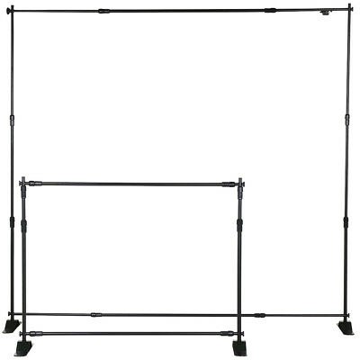 8' Telescopic Backdrop Stand Adjustable Banner Display Trade Show Exhibitor US