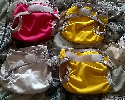 Baby beehind nappy covers, bulk lot of 4, size Small