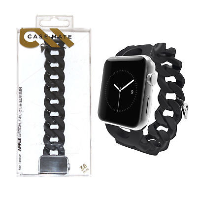 Case-Mate Turnlock Flexible Smartwatch Strap Band for Apple Watch 38mm - Black