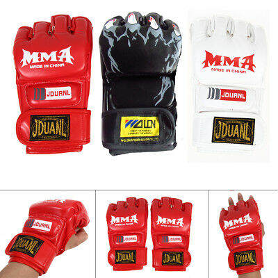 MMA Muay Thai Gym Gloves Half Mitt Trainning Sparring Kick Boxing Punching Glove