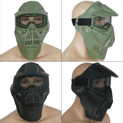 AU Airsoft Paintball Game Hunting Bike Full Face Protect Gear Mesh Mask Goggle