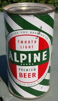 Alpine Flat Top Beer Can - Peter Fox Brewing Company, Chicago