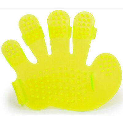 Cleaning Bath Brush Glove Gentle Pet Massage Grooming Groomer Dog Cat Cleaner