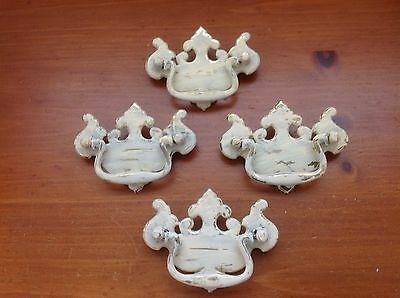 VTG 415 French Provincial Swing Pulls In Ivory 4 Available Shabby Chic!