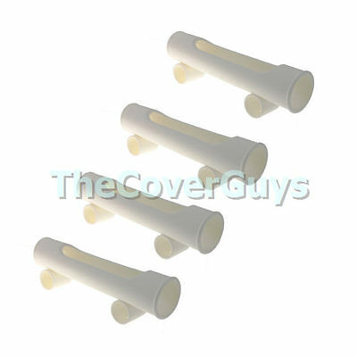 Rod Holders Rocket Launcher White x 4