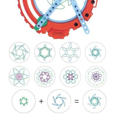 Kid Spirograph Drawing Deluxe Design Set Original Toy Game Gears Wheels Creative