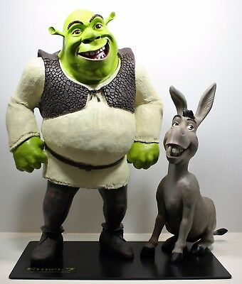 SHREK 2 Limited Edition Character Replicas SHREK and DONKEY Lifelike over 30""