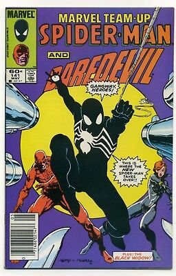 Marvel Team-Up #141 w/Black Suit Daredevil Black Widow NEWSSTAND VF/NM