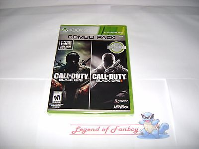 * New * Sealed * Call of Duty: Black Ops 1 & 2 II Combo Pack - Xbox 360 w/ DLC