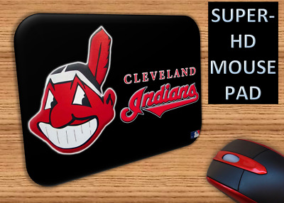 """CLEVELAND INDIANS~ ULTRA HD Mouse Pad-  """"Chief In Black"""" Theme (7.8"""" x 8.5"""")"""
