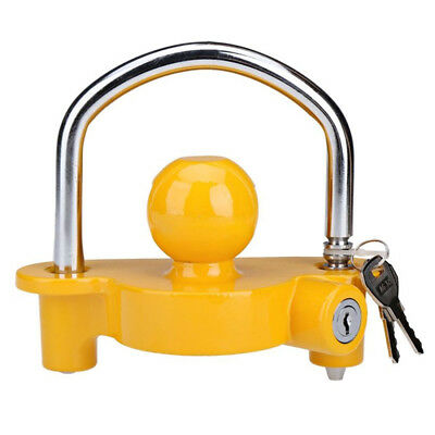 Boat motorcycle Trailer Hitch Coupler Lock Ball lock height adjustable I5Q3