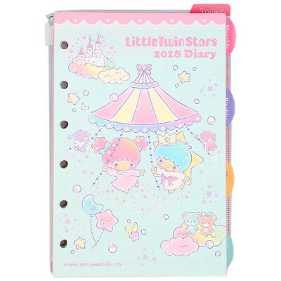 2018 Little Twin Stars LV Agenda Refills Organizer Pages Bear Pink Japan