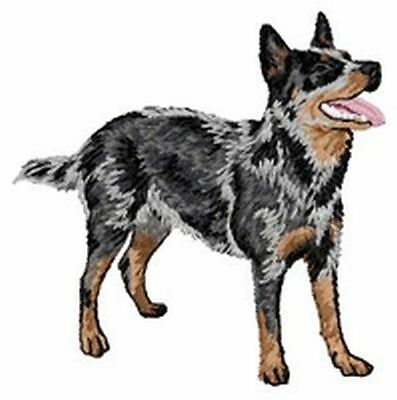 """Australian Cattle Dog, Embroidered Patch 3.7"""" Tall"""