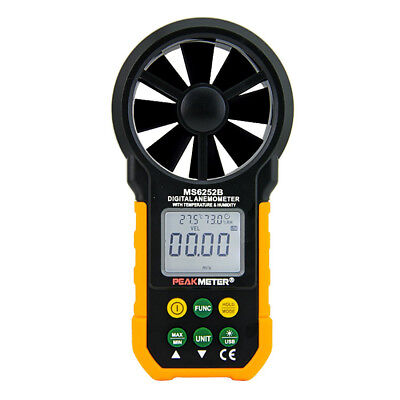 PEAKMETER PM6252B USB Digital Anemometer Air Flow Tester Meter G5J1
