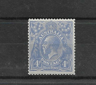 Australia Single Wmk 4d Blue KGV. MH