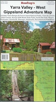 Rooftop Yarra Valley-West Gippsland Adventure Map *FREE SHIPPING - NEW*