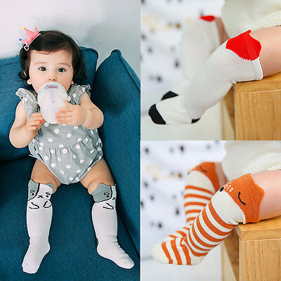 Children's Fashion Knee High Fox Socks Cute 1-3 Years Various Sizes Leg Warmers