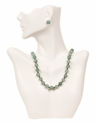 Necklace and Earring Bust Jewelry Display - White, New, Free Shipping