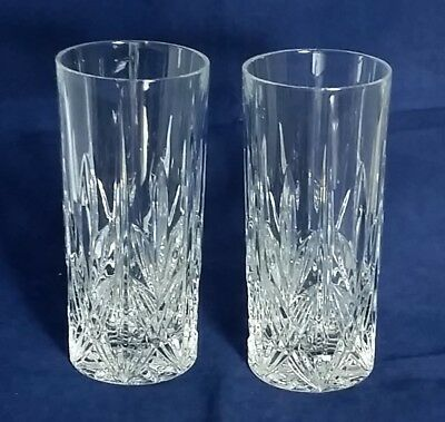 Beautiful Pair of Quality Heavy Bohemia  Crystal Glasses