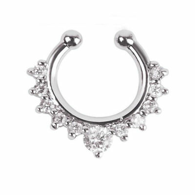 Gem Faux Septum Ring Fake Body Jewellery