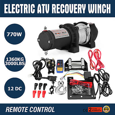 3000LB 12V Electric Winch With Wireless Remote Fairlead Boat ACTIVE PROMOTION