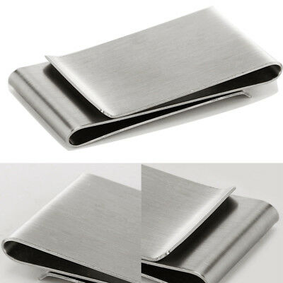Mens Exquisite Stainless Steel Metal Money Cash Note Thin Holder Clip Wallet