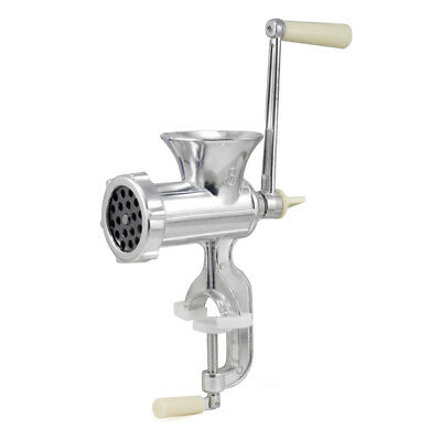 Hand Operated Kitchen Clamp Grinder Meat Mincer Maker Beef Sausage S7S5