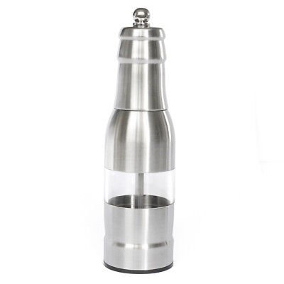 304 Stainless Steel Pepper Mill Manual Pepper Adjustable Grinder Silver U1E1