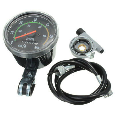Mechanical Odometer Speedometer Resettable RPM For Bicycle Bike Motorcycle L6H3