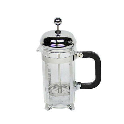 350ml Stainless Steel Glass Tea Coffee Cup french Plunger Press Maker N5U2