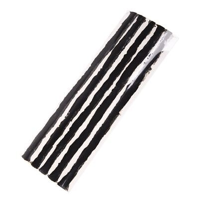 Car Tubeless Tire Repair String Rubber Strips Black 195mm 100 Pcs H5C8