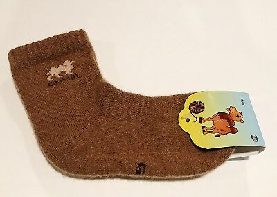 Kids Camel Wool Blend Socks Warm Brown For 5 Years Old NWT Made In Mongolia