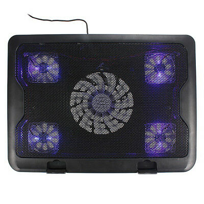 New USB Fans Blue LED Laptop Notebook Cooling Pad H1Y5