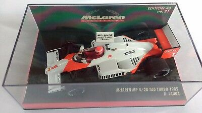 Minichamps 1 / 43 Mc Laren Mp 4/2B Tag Turbo N° 1 1985 N. Lauda