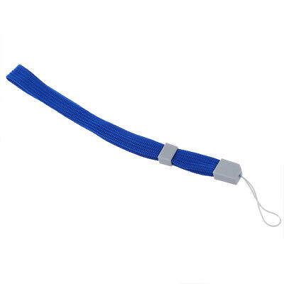 2X Blue Lanyard Hand Wrist Strap With Slide For Camera Phone Wii DS PSP MP3 L7E1